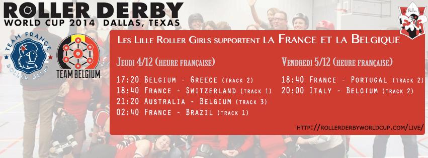 Lille Roller Girls soutient la Team France et la Team Belgium
