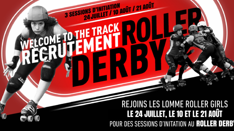 Welcome To The Track - Recrutement de Roller Derby à Lille et Lomme par les Lomme Roller Girls