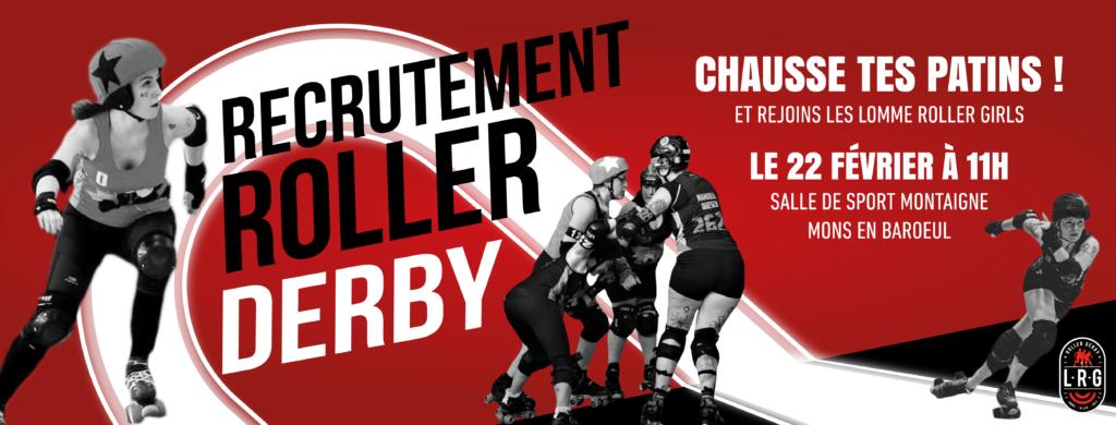 Recrutement de Roller Derby à Lille et Lomme avec les Lomme Roller Girls